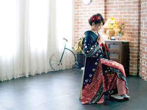 美光スタジオのスタジオ撮影、成人記念、成人式、振袖、記念写真