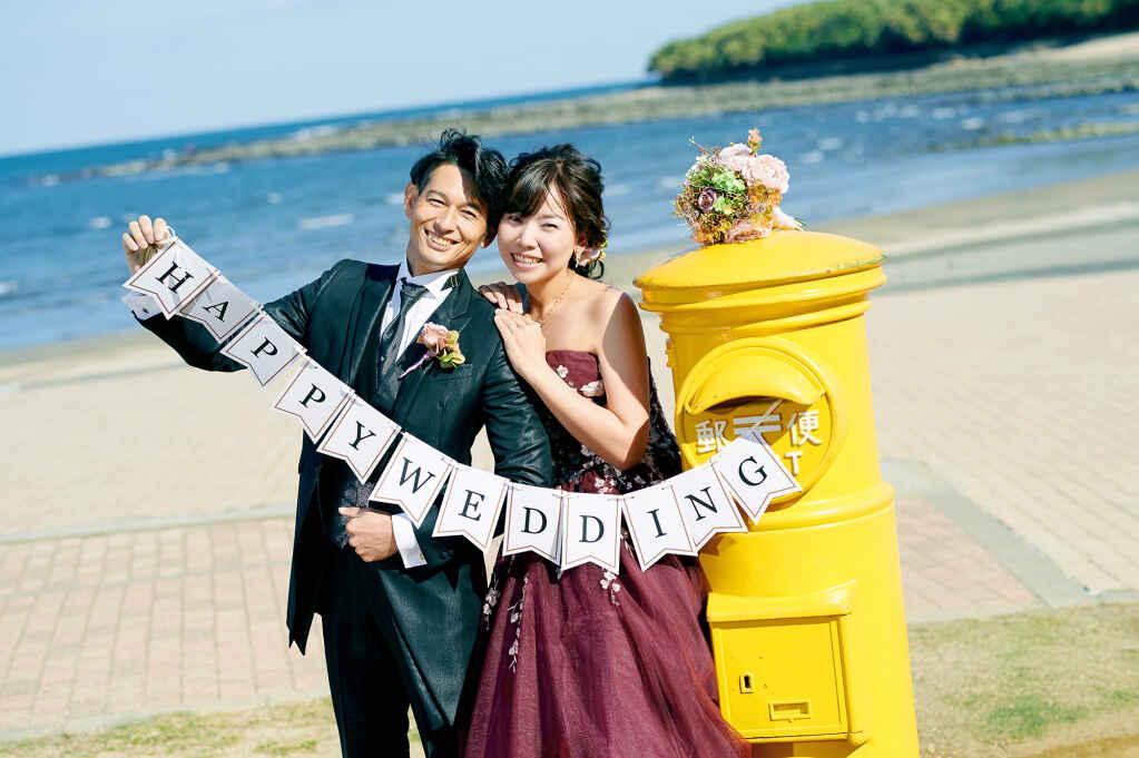 フォトウェディング&前撮り/ドレスロケ・青島の海